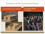 evolution of the community house