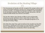 evolution of the healing village