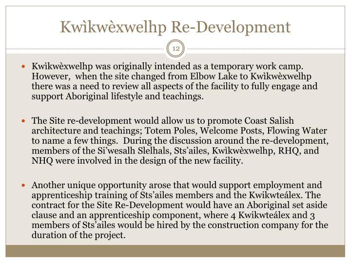 Kwìkwèxwelhp Re-Development