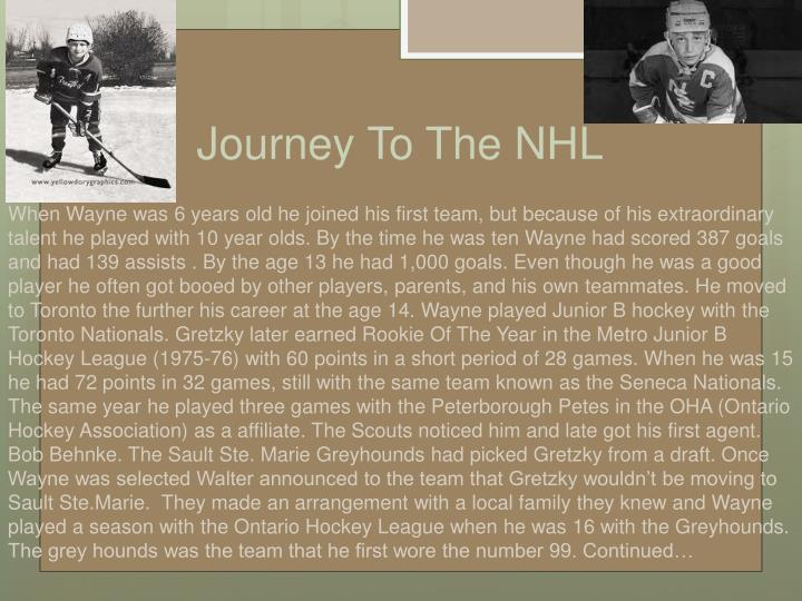Journey To The NHL