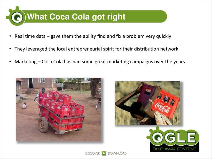 What Coca Cola got right