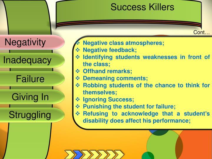 Success Killers