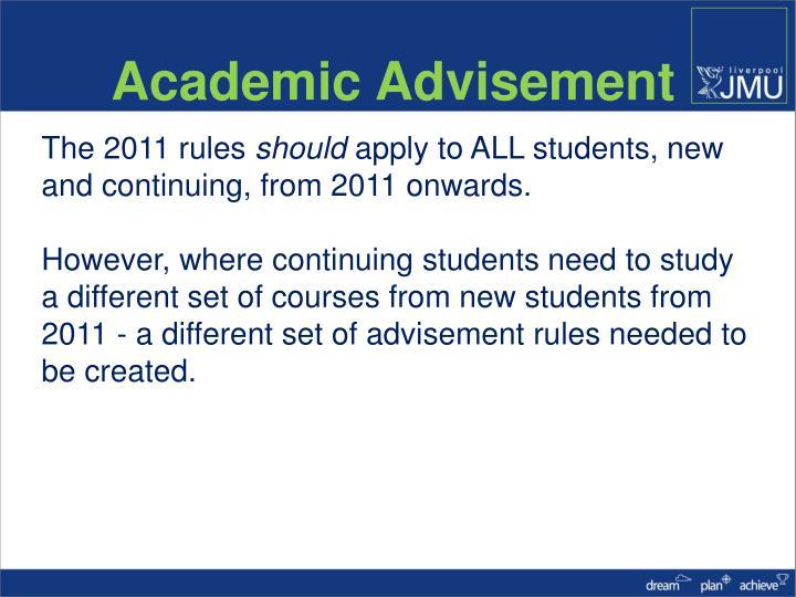 Academic Advisement