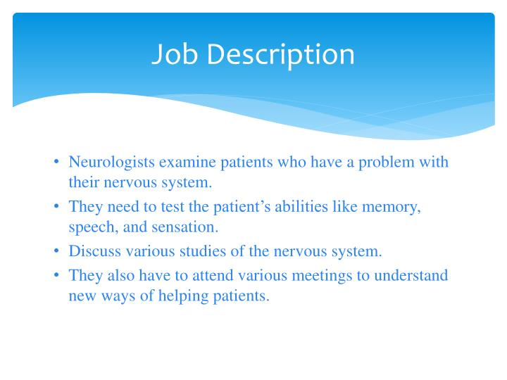 job description neurologists - Job Description Of Neurologist