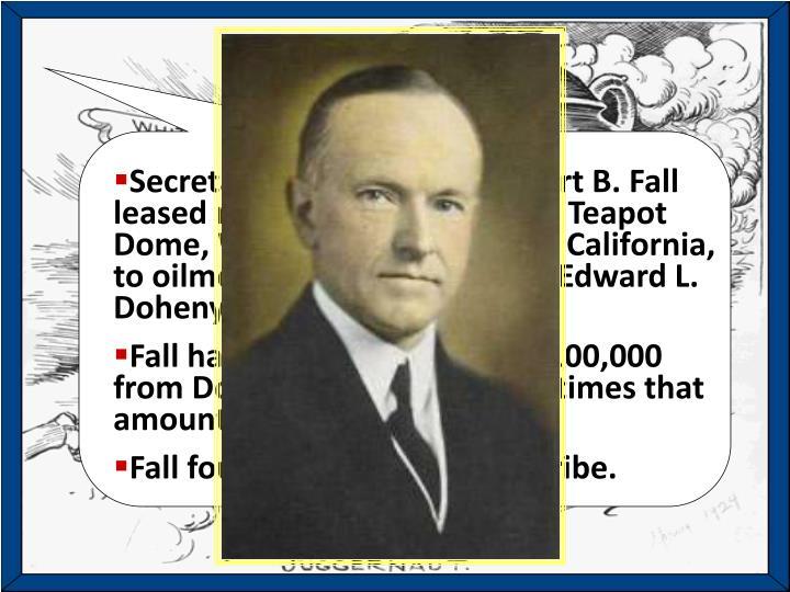 Harding and Coolidge