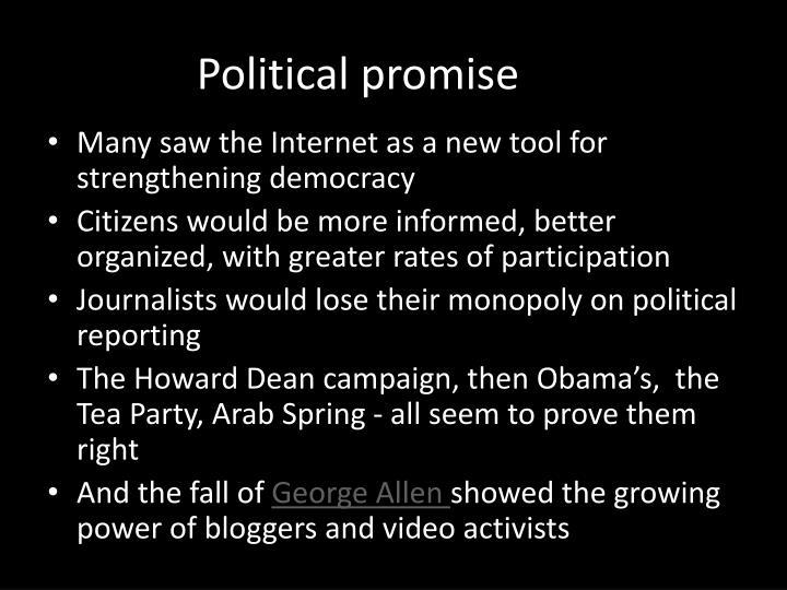 Political promise