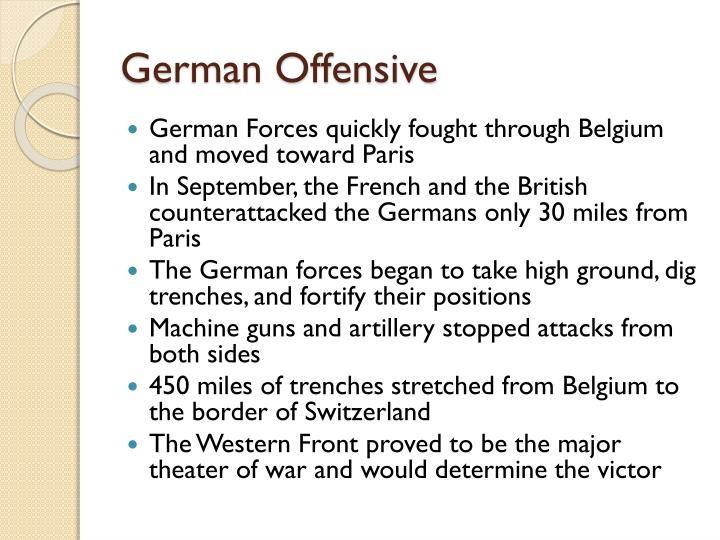 German Offensive