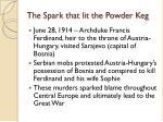 the spark that lit the powder keg