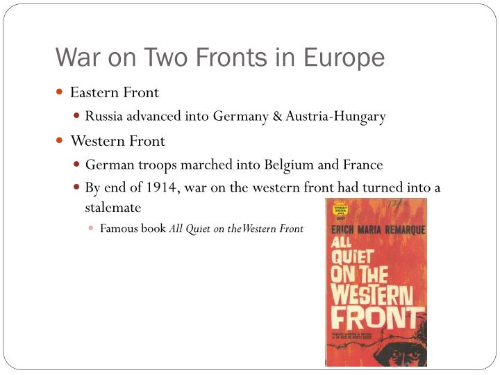 War on Two Fronts in Europe