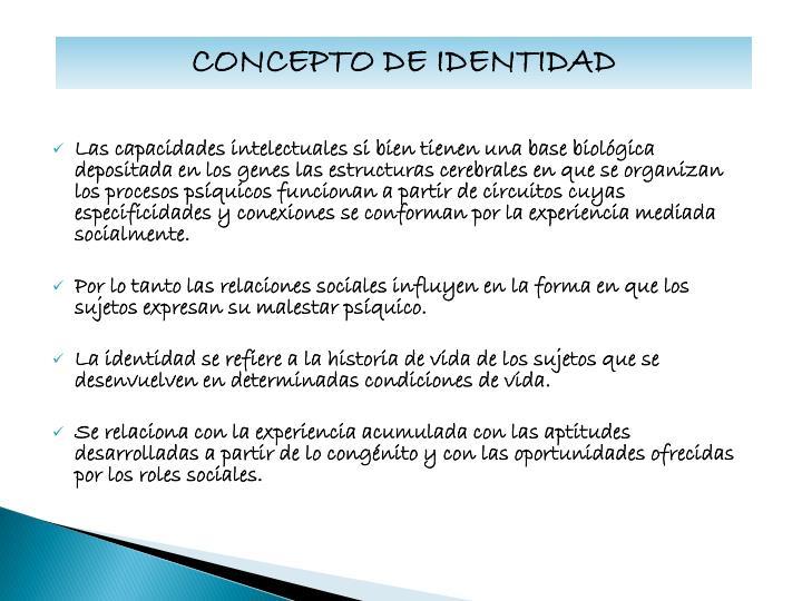 CONCEPTO DE IDENTIDAD