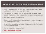 best strategies for networking1