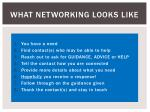 what networking looks like