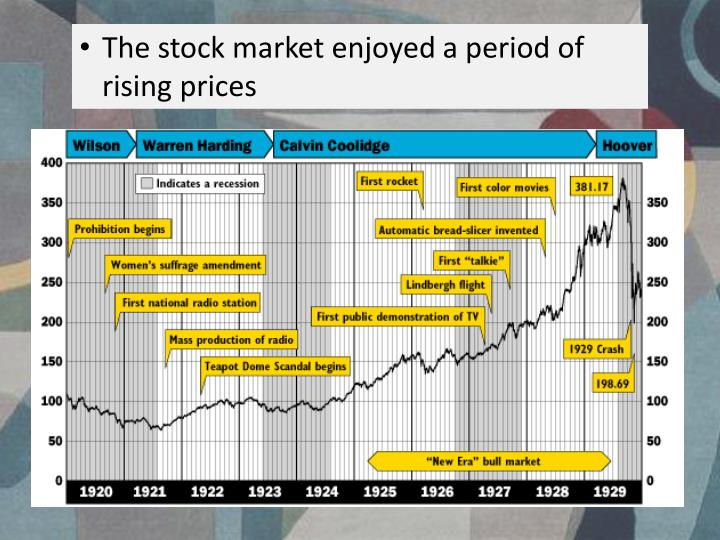 The stock market enjoyed a period of rising prices