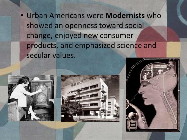 Urban Americans were