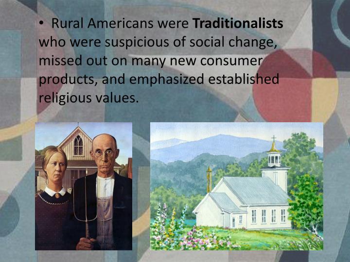 Rural Americans were