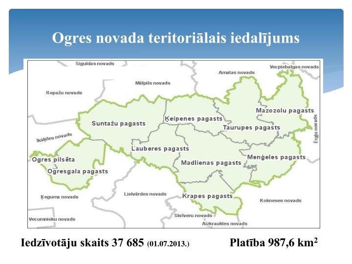 Ogres novada teritoriālais iedalījums
