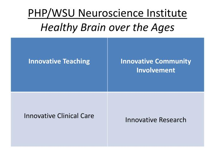 PHP/WSU Neuroscience Institute
