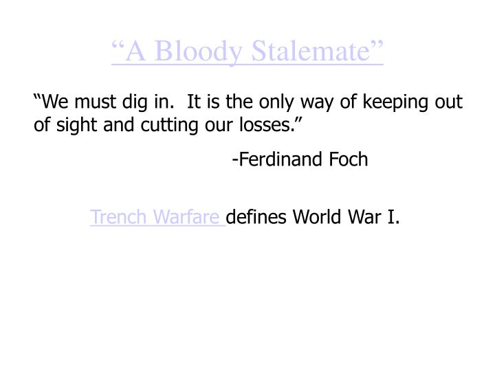"""""""A Bloody Stalemate"""""""