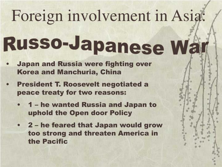 Foreign involvement in Asia: