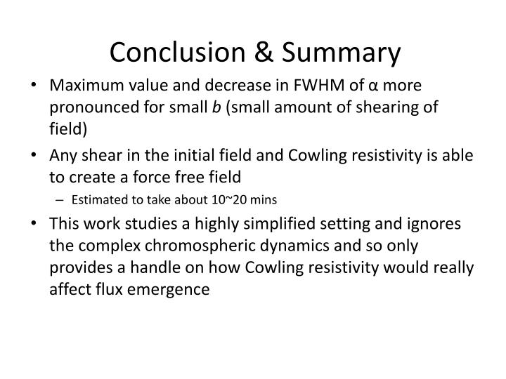 Conclusion & Summary