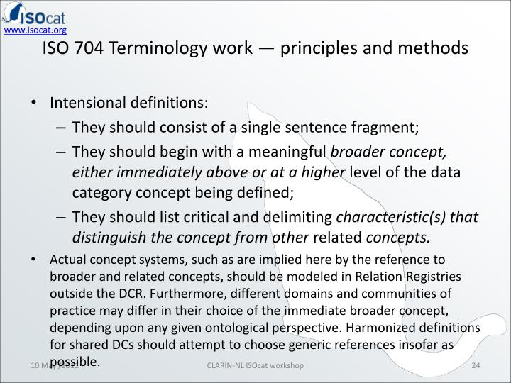 ISO 704 Terminology work — principles and methods