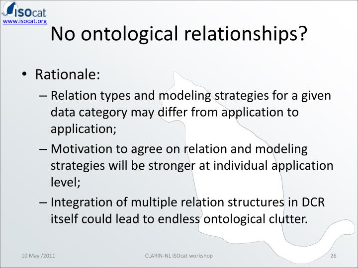 No ontological relationships?
