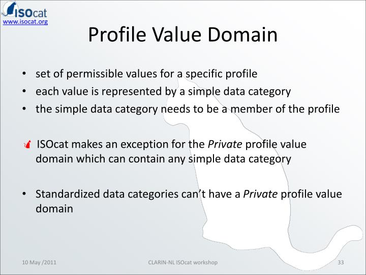 Profile Value Domain