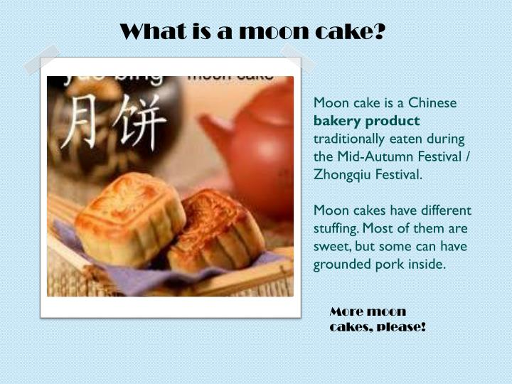What is a moon cake?