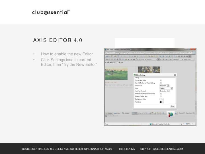 AXIS EDITOR 4.0