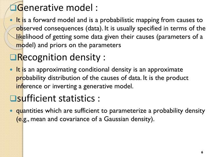 Generative model :