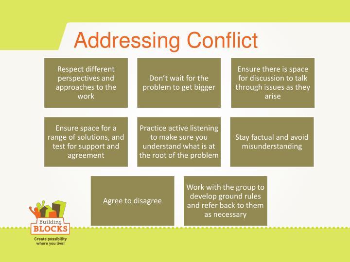 Addressing Conflict