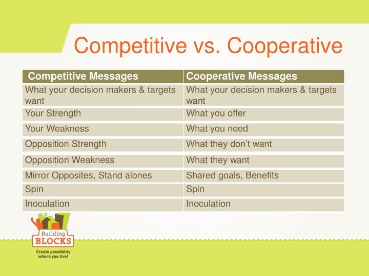 Competitive vs. Cooperative
