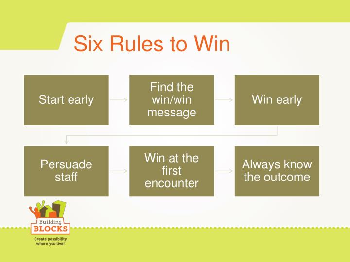 Six Rules to Win