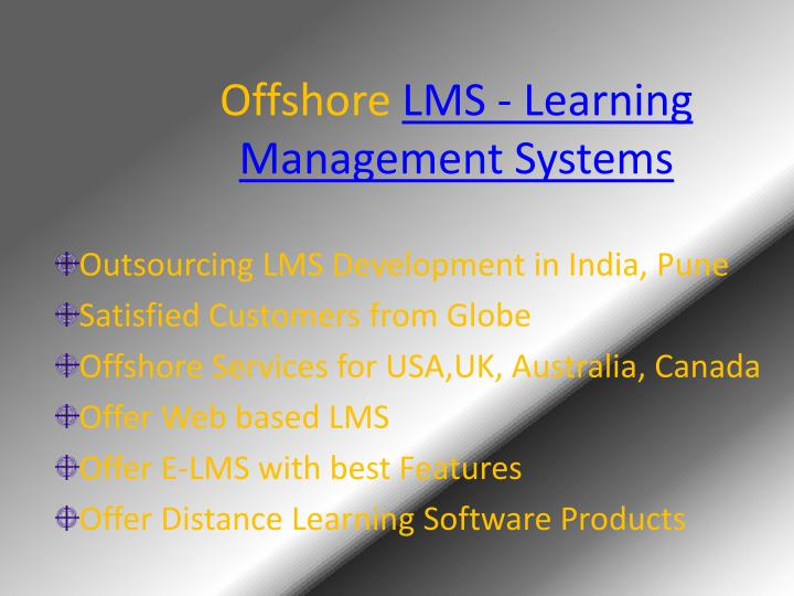 offshore lms learning management systems