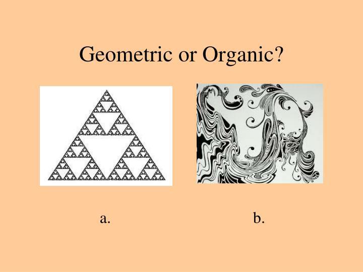 Geometric or Organic?
