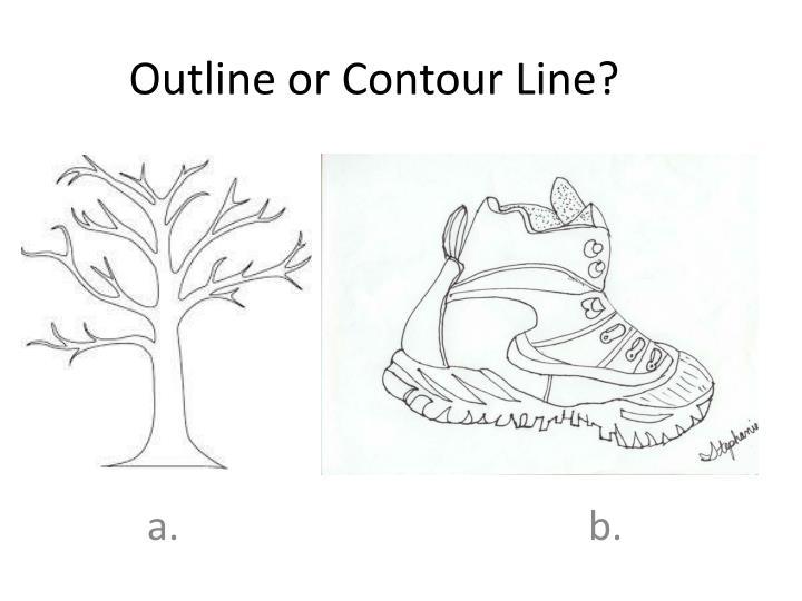 Outline or Contour Line?
