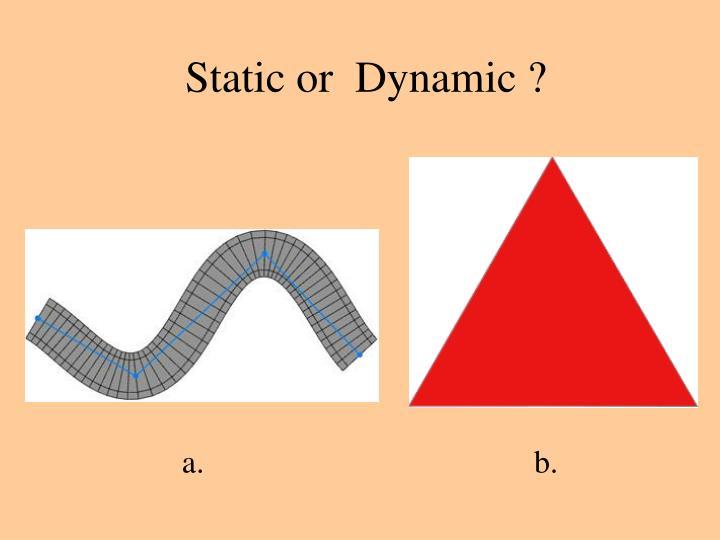 Static or  Dynamic ?