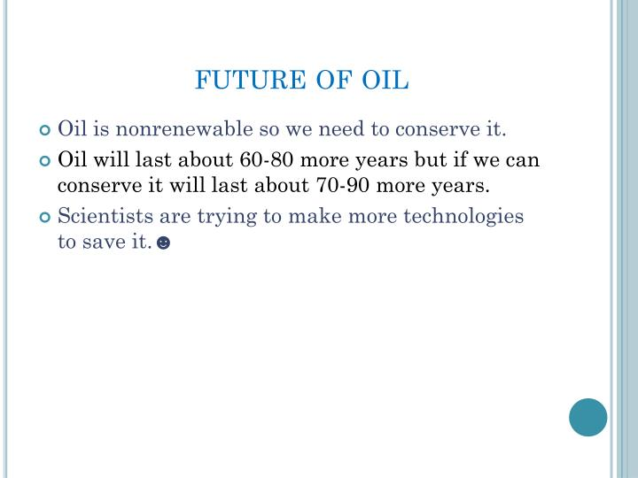 future of oil