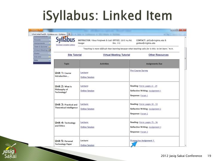 iSyllabus