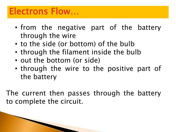 Electrons Flow…