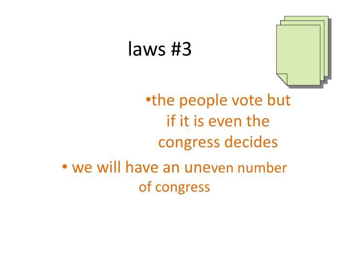 laws #3
