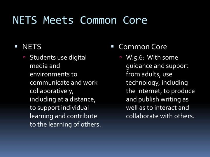 NETS Meets Common Core