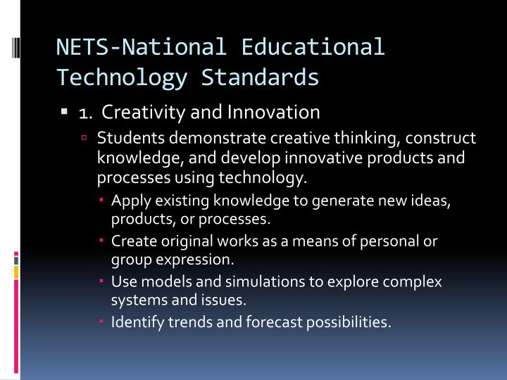 Nets national educational technology standards