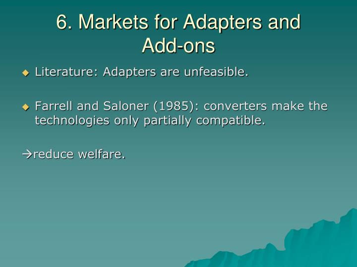 6. Markets for Adapters and