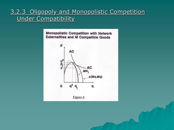 3.2.3  Oligopoly and Monopolistic Competition Under Compatibility