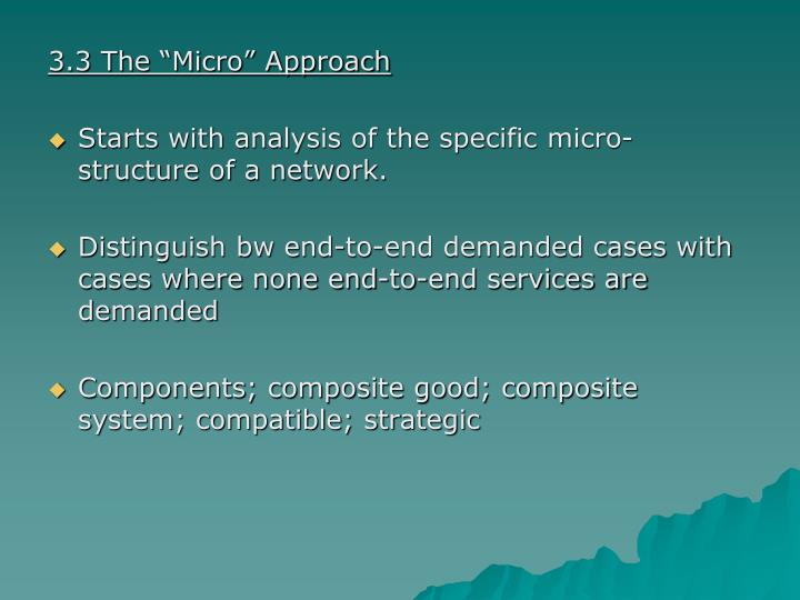 """3.3 The """"Micro"""" Approach"""