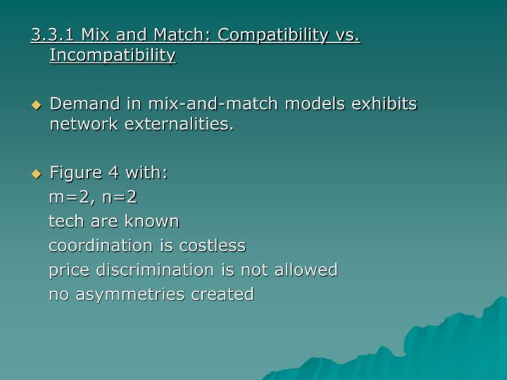 3.3.1 Mix and Match: Compatibility vs. Incompatibility