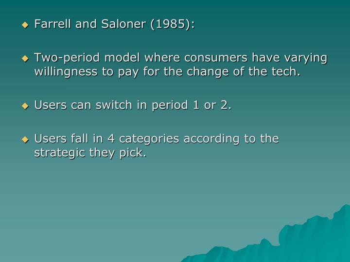 Farrell and Saloner (1985):