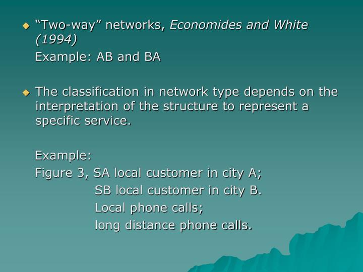 """""""Two-way"""" networks,"""