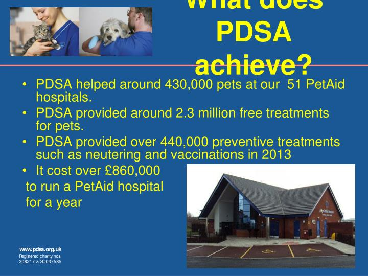 What does PDSA achieve?